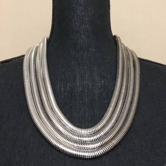 Jewelry - White Gold Tone Adjustable Necklace